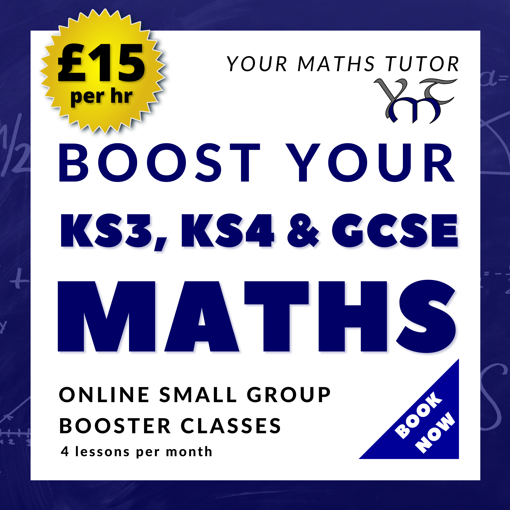Online Group Booster Classes For Secondary & GCSE Maths